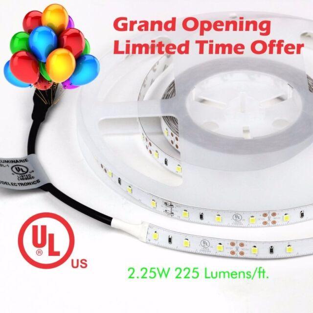 Tecled Ul Listed 16ft Led Tape Strip Light Daylight 6500k 288x2835 12v 36w Ip33
