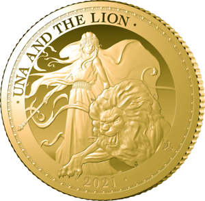 2021 Una & the Lion 1/4oz Gold Proof Coin Ltd Edition 500  Hurry Low Stock