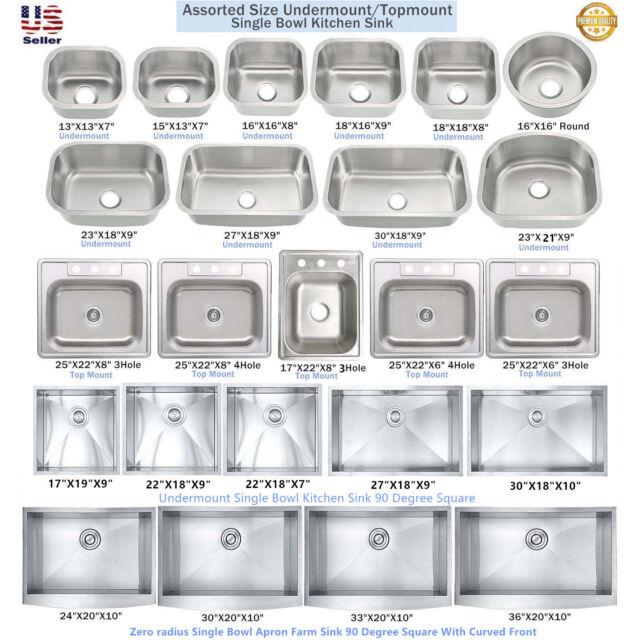 Premium 15 Stainless Steel Undermount Single Bowl Bar Island Kitchen Sink Combo For Sale Online Ebay