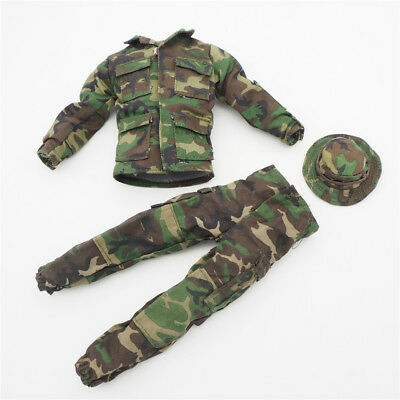 1//6 Scale Uniforms Outfits Suit Desert camo Bonnie Cap hat Action Figures