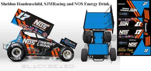CD/_SC/_104 #17 Sheldon Haudenschild SJM Racing//NOS Energy Drink  1:18 DECALS