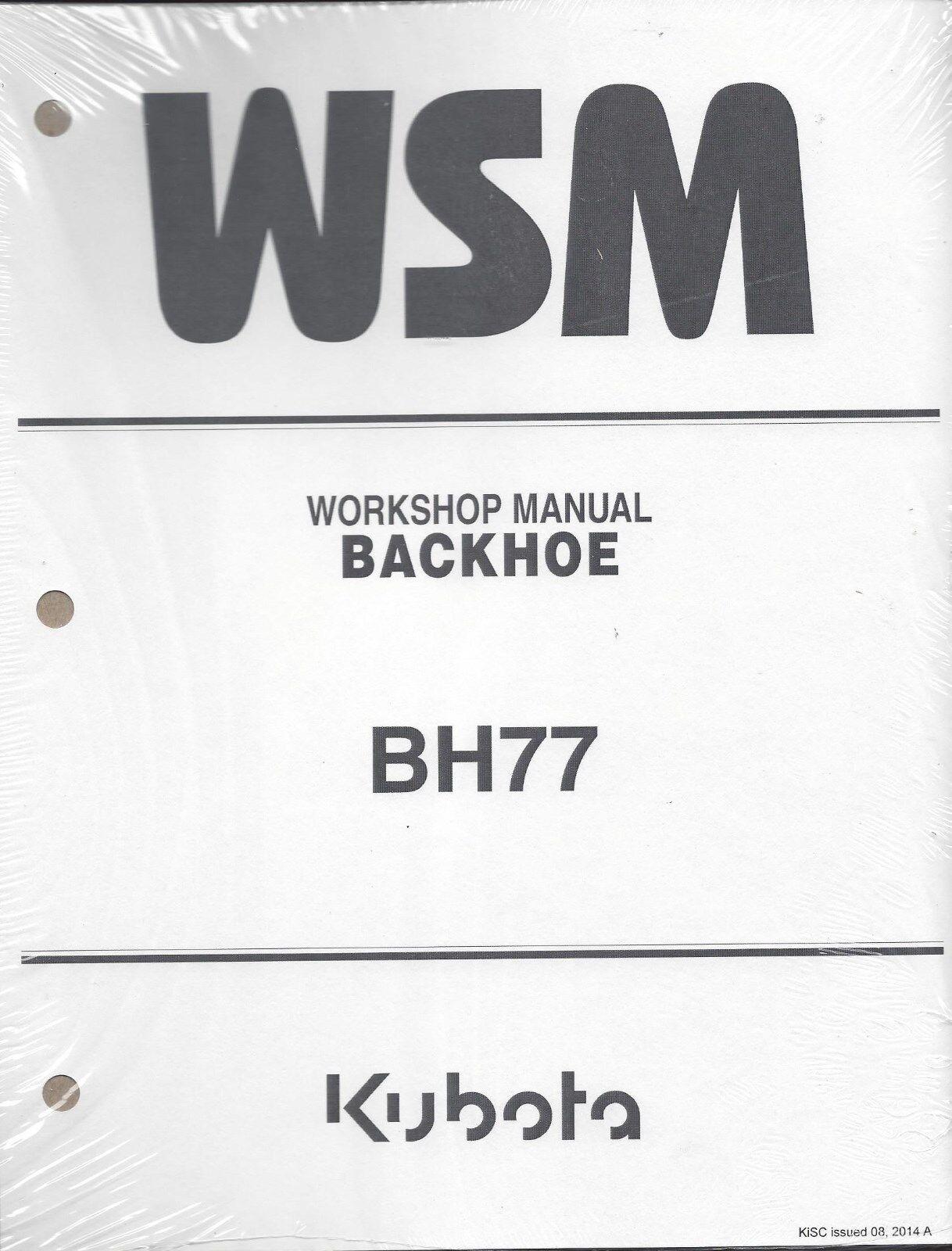 Kubota Bh77 Backhoe Workshop Service Manual