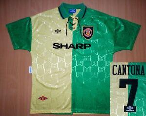 sale CANTONA Manchester United 1992 away shirt jersey camisa football 1993 1994