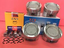 YCP 75.5mm 020 Vitara Pistons Full Floating Low Comp + NPR Rings Honda D16 Turbo