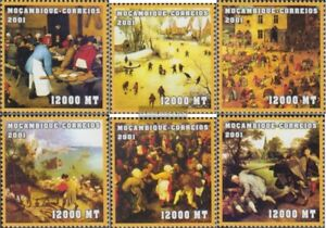 Stamps Mosambik 2085-2090 Unmounted Mint Never Hinged 2001 Art Refreshing And Beneficial To The Eyes
