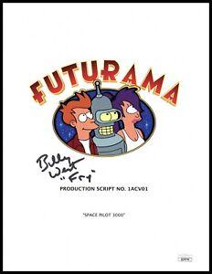 "Billy West Autograph Signed Script Cover - Futurama ""Fry"" (JSA COA)"