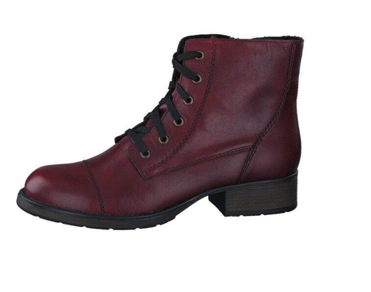 Leather boots with laces Rieker z9510-35 NEW to Special Price