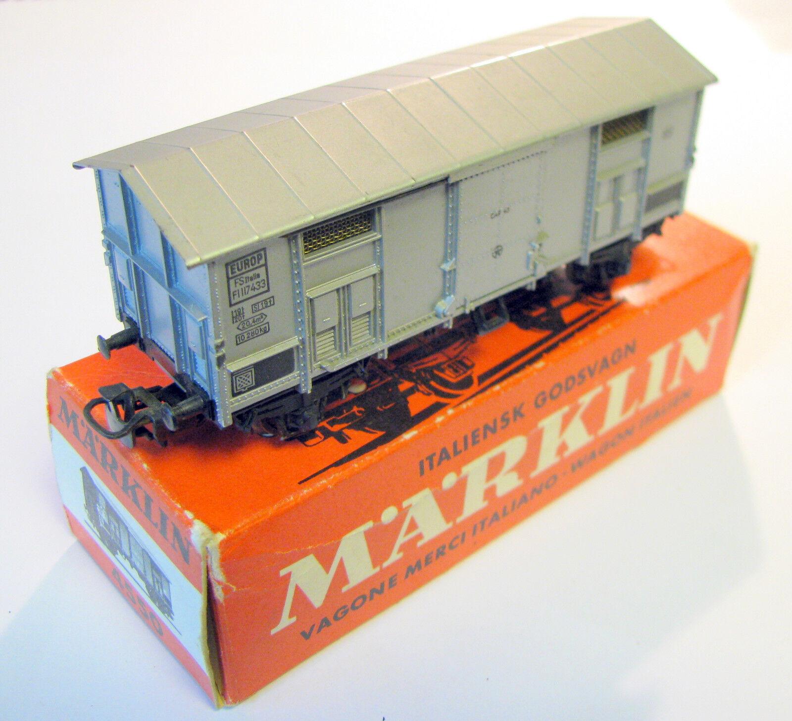 marklin h0 4550 autori merci delle FS tetto a punta argentoo in scatola originale