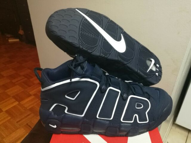 1fc3e36785a42 Men s New Nike Air More Uptempo  96 Obsidian White 921948 400 Size 11.5