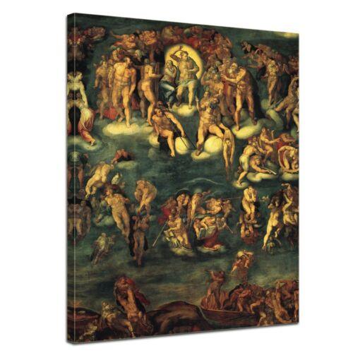 Michelangelo Alte Meister Kunstdruck Jüngstes Gericht I