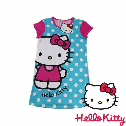 NEW Genuine Licensed Girls Hello Kitty Summer Dress//Nighty Sizes 7,8,10 /& 14