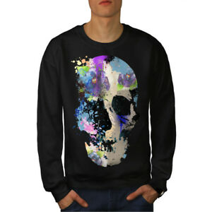 Skull Black uomo Skeleton Felpa Colorful New wpxfBq7v