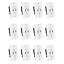 NEW 12-Pack of 15 Amp Outlet Receptacle Wall Plate with Dual USB Charger Port
