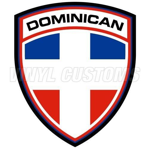 "Dominican Flag Vinyl Decal Sticker JDM 5/"" in."