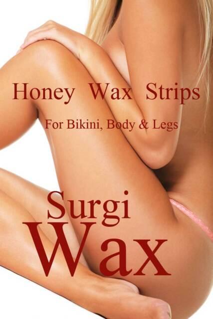 SURGI WAX HONEY WAX STRIPS FOR BIKINI BODY WITH BONUS SOOTHING GEL