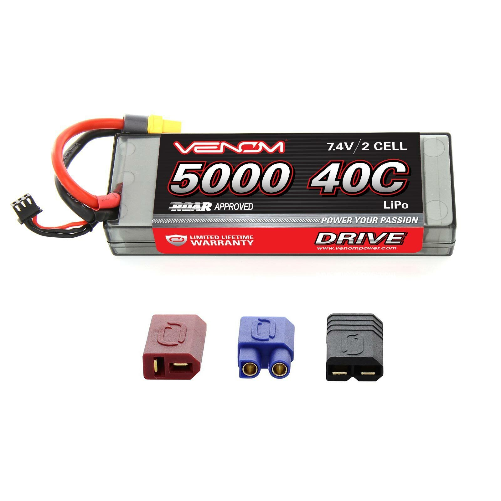 Axial SCX10 Jeep Wrangler Rubicon 40C 7.4V 5000mAh LiPo Battery by Venom