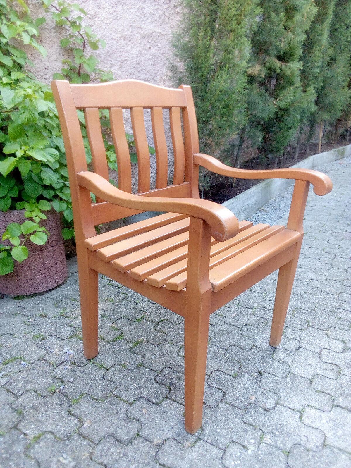2 Hochwertige Holz Gartensessel Gartenstühle -Schreinerqualität- Top Zustand