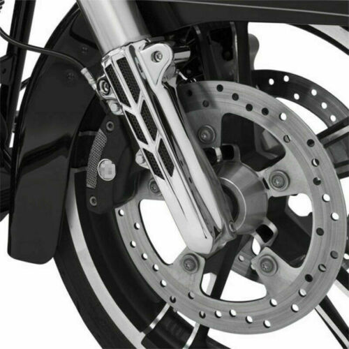 Smoke Chrome Lighted Forkini Lower Fork Leg Covers for 2014-2019 Harley Touring