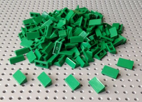 85984 x25 in a set *BRAND NEW* Lego Green 1x2 2/3 Slope Brick Cheese Wedge