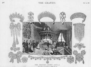 1887-Antique-Print-FRANCE-Crown-Jewels-Auction-Salle-Etats-Diamond-Tiara-98