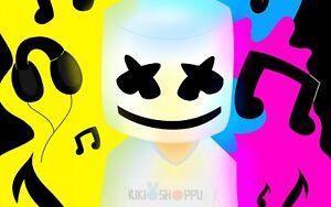 Poster A3 Mascara Marshmello Marshmallow Dj Musician Cartel Decor Impresion 11