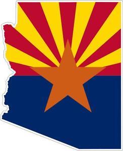 Adesivi-adesivo-moto-auto-sticker-bandiera-vinyl-decal-mappa-arizona-america