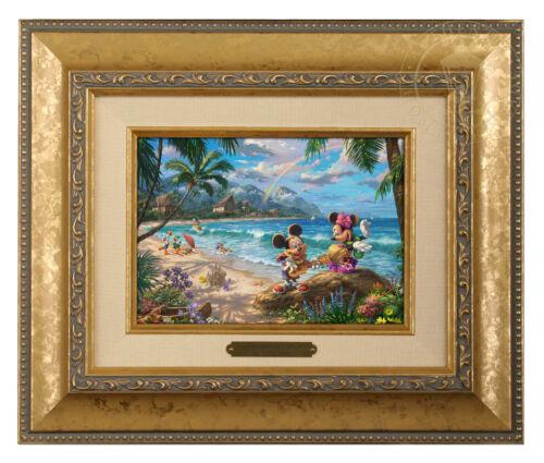 Thomas Kinkade Studios Mickey and Minnie In Hawaii Brushwork Choice of Frame