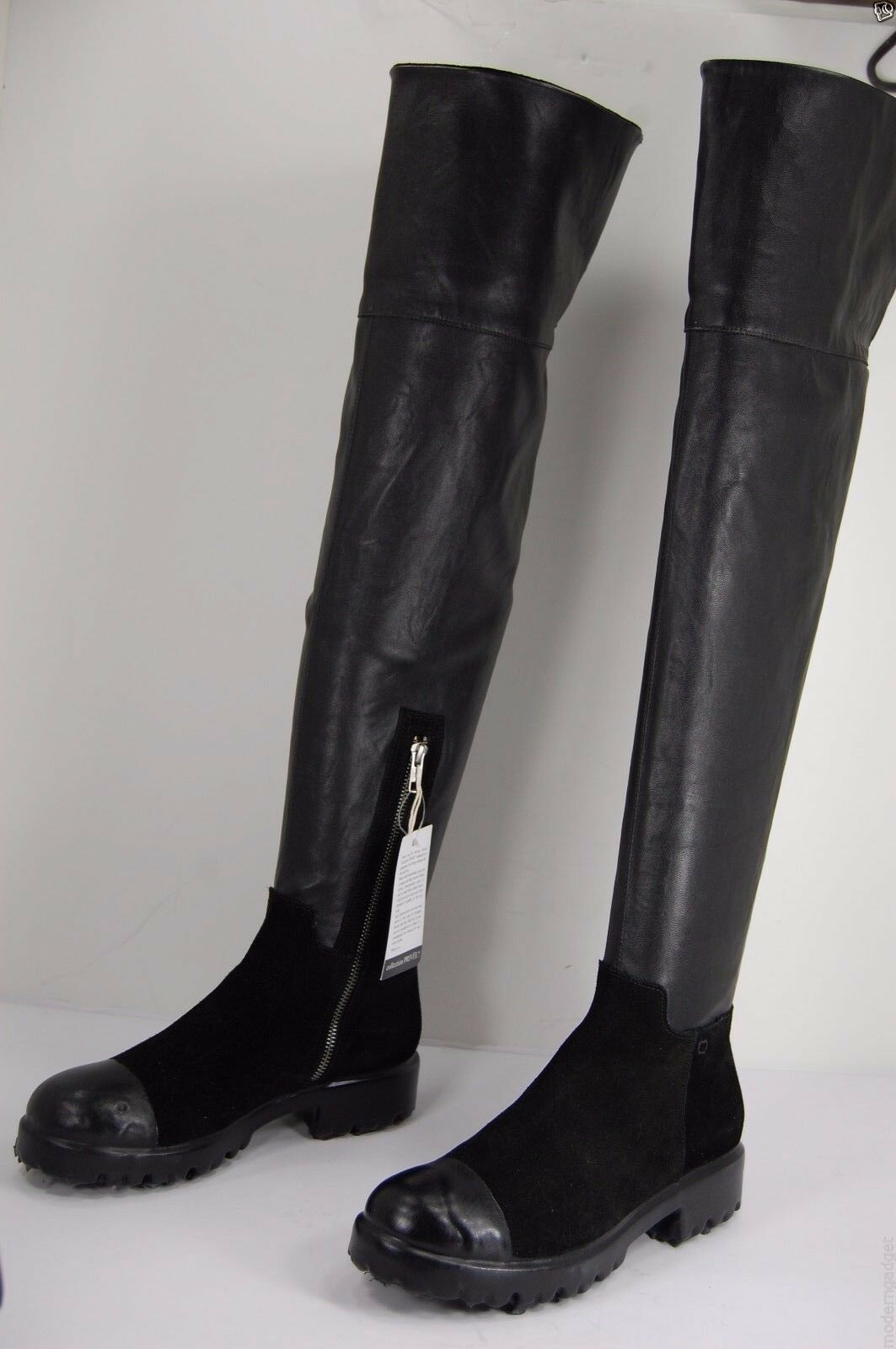 Collection Privée  Stretch  BLACK OVER THE KNEE BOOTS US 11