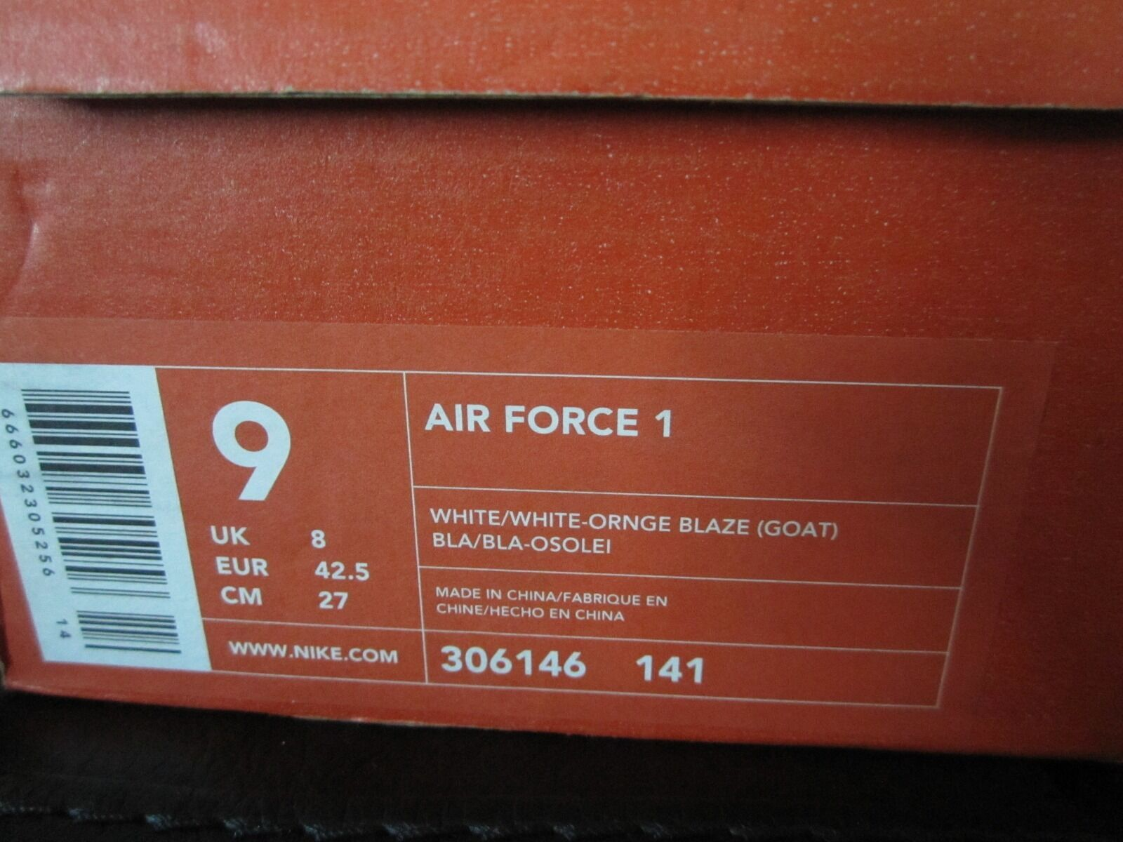 0fb979f8a44e3 Nike Air Force 1 Limited Edition 2003 Year of The Goat New. for sale online