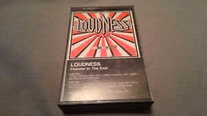 """LOUDNESS """"THUNDER IN THE EAST"""" CASSETTE 1985 ATCO RECORDS"""