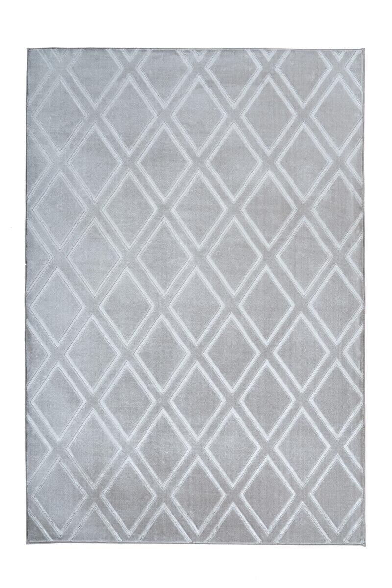 Tappeto Moderno Rombo Design Scandinava Scandi Grigio Argeno 120X170Cm