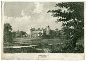 Madingley-Engraving-By-White-Drawn-By-Burton