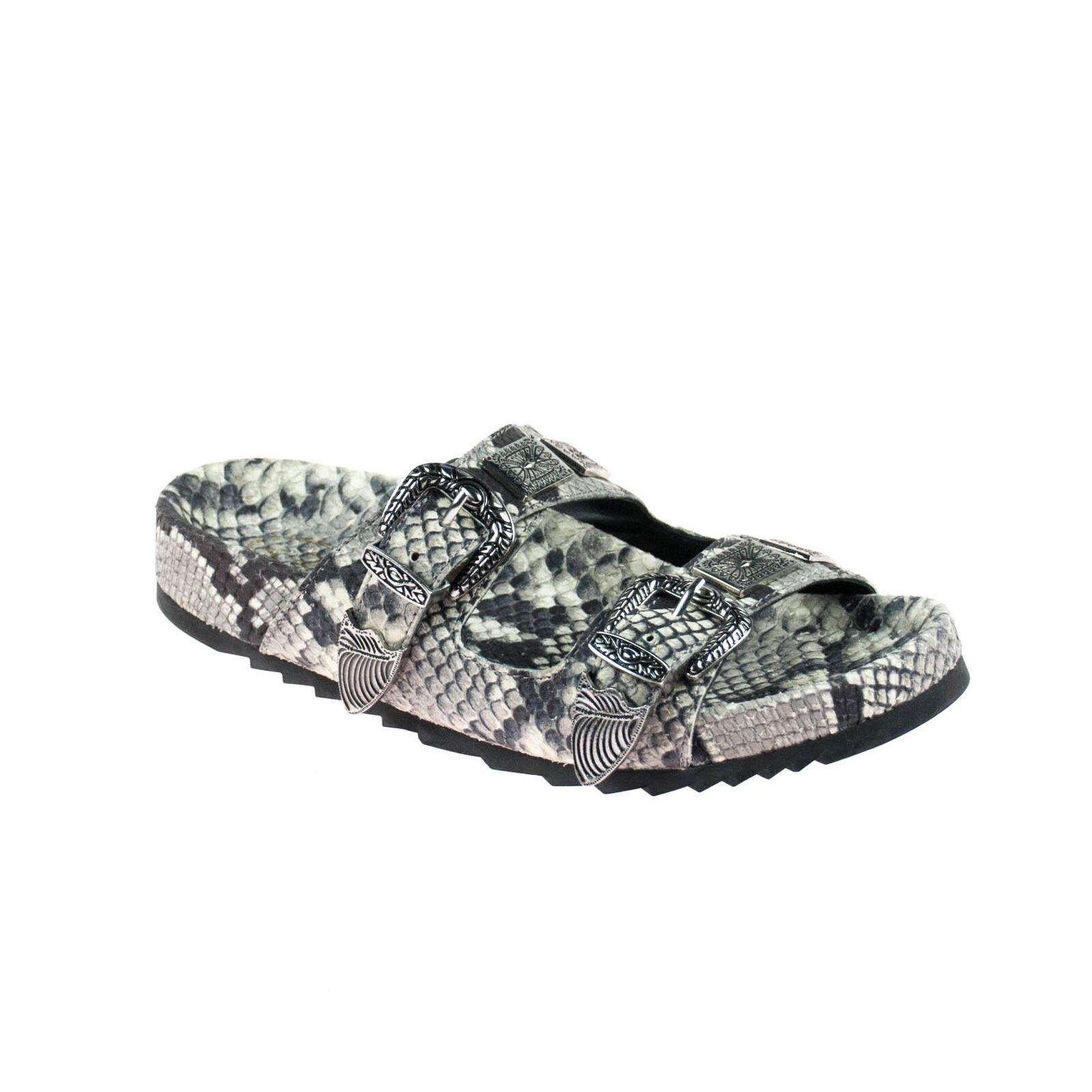 best sneakers 0c3f0 a602f Ash señora sandalias de cuero serpientes patrón tamaño 36