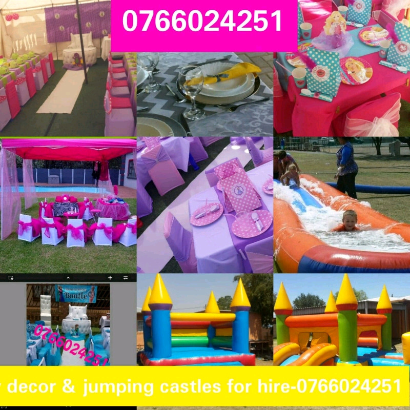 Kids party deco and jumping castles for hire