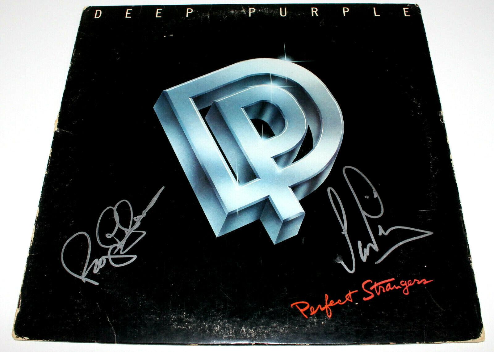 Postleitzahl Deep Purple Signiert Authentisch 'Perfekt Strangers ...
