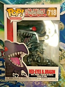 Funko-Pop-Red-Eye-Black-Dragon-718-Yu-Gi-Oh-w-Protector