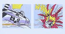 Roy Lichtenstein 'Whaam' 2 x prints! Both panels left & right. Mint!