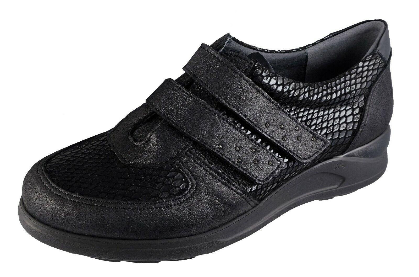 FlUCHOS Cloe Chaussures Femme Semelles Amovibles Noir F0711