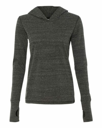 All Sport Ladies Thumb Hole Long Sleeve Hooded Pullover T-Shirt W3101 S-2XL SALE
