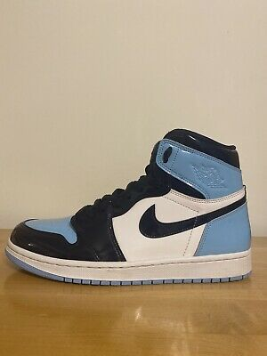 Nike Air Jordan 1 High Og Blue Chill Patent Leather Unc Obsidian