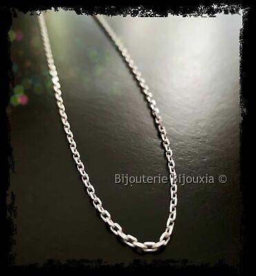 Chaîne Maille corde 60 cm En Argent Massif 925//1000 Poinçonné Bijoux