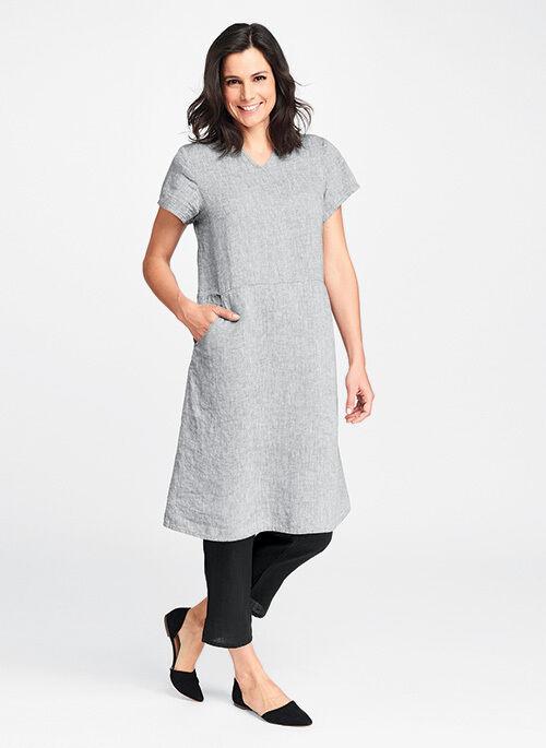 FLAX Designs   LINEN  Dress  2G  NWOT  Renewed Dress  Neutral Two NATURAL