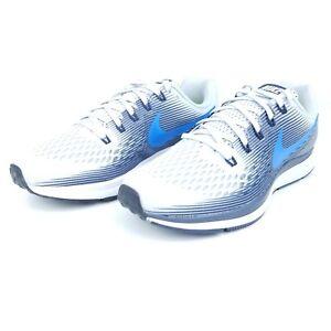 4187182e5cafa Nike Air Zoom Pegasus 34 Mens Running Shoes Blue Black White 880555 ...