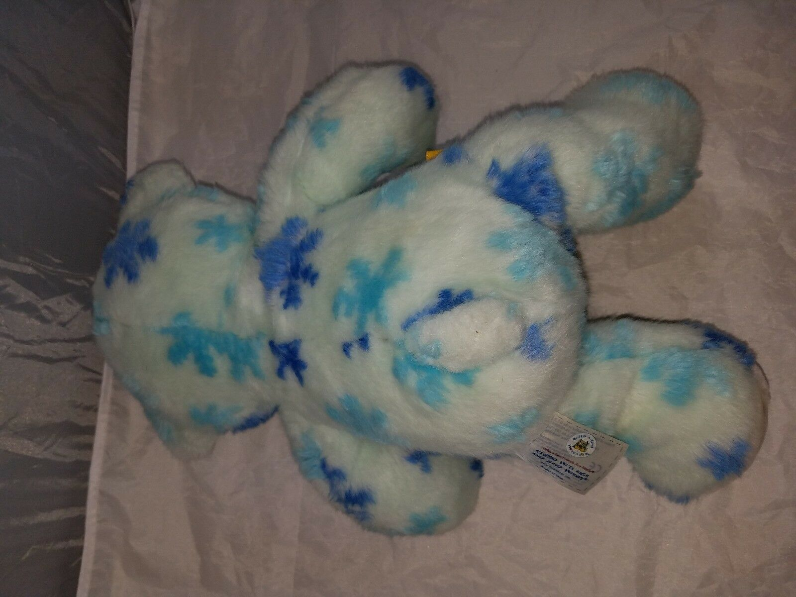 Build a Bear Workshop BAB collectable plush bluee snowflake snowflake snowflake bear christmas 2009 cb130a