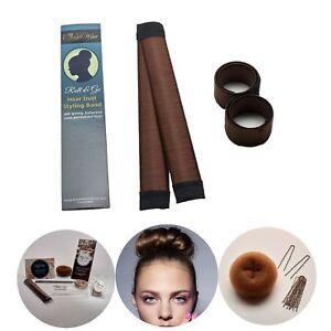 2 Stuck Premium Qualität Hair Bun Maker 1 Dutt Kissen Haar Donut