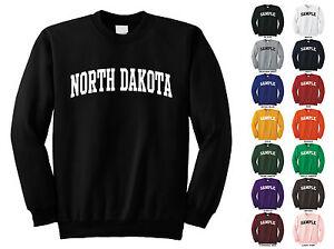 State Of North Dakota Adult Crewneck Sweatshirt College Letter