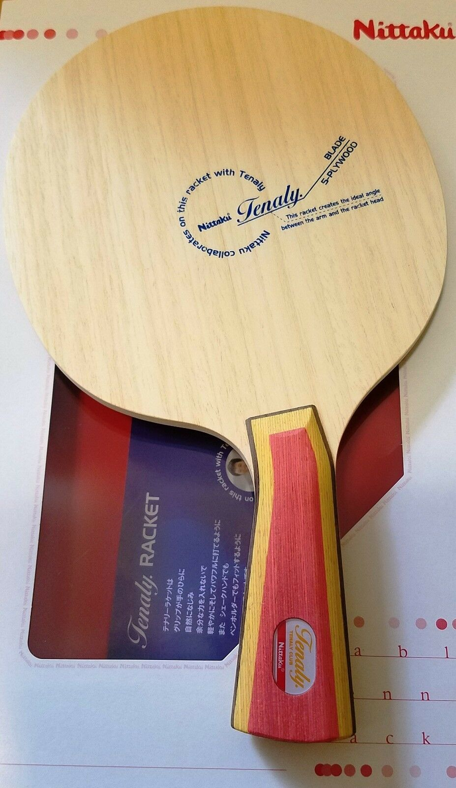 Nittaku Tenaly Original Unique  Bent Handle Handle Handle 81 Grams Table Tennis Blade 7d54cd