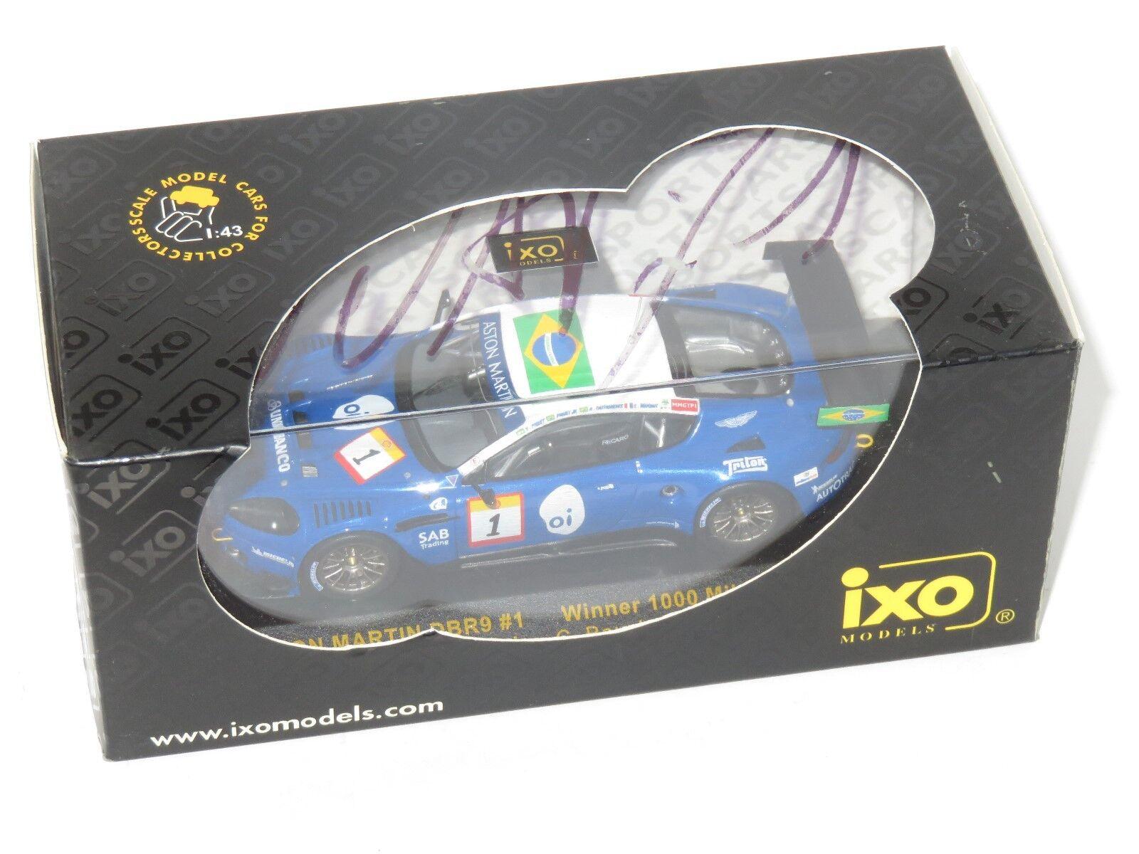 1/43 ASTON MARTIN DBR9 1st 1000 MIGLIA BRASILE 2006 Scatola firmato N. Piquet Jnr.