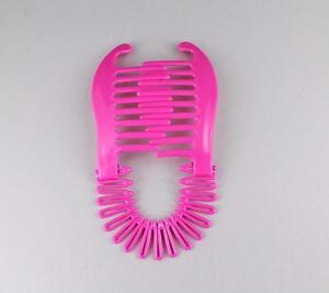 Image Is Loading Pink Plastic Interlocking Banana Clip Hair Pony Tail