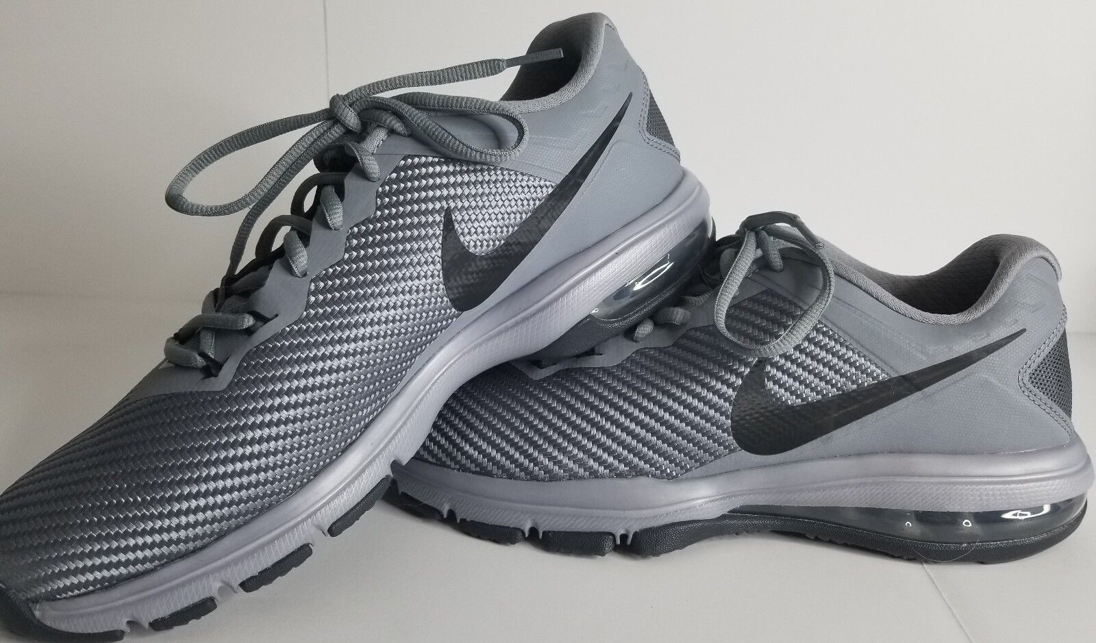 Nike Air Max Full Ride TR 1.5 Mens 869633-011 Cool Gray Training Shoes Size 8.5
